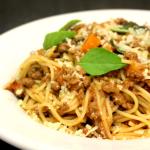 Espaguete com Ragu Bolognese